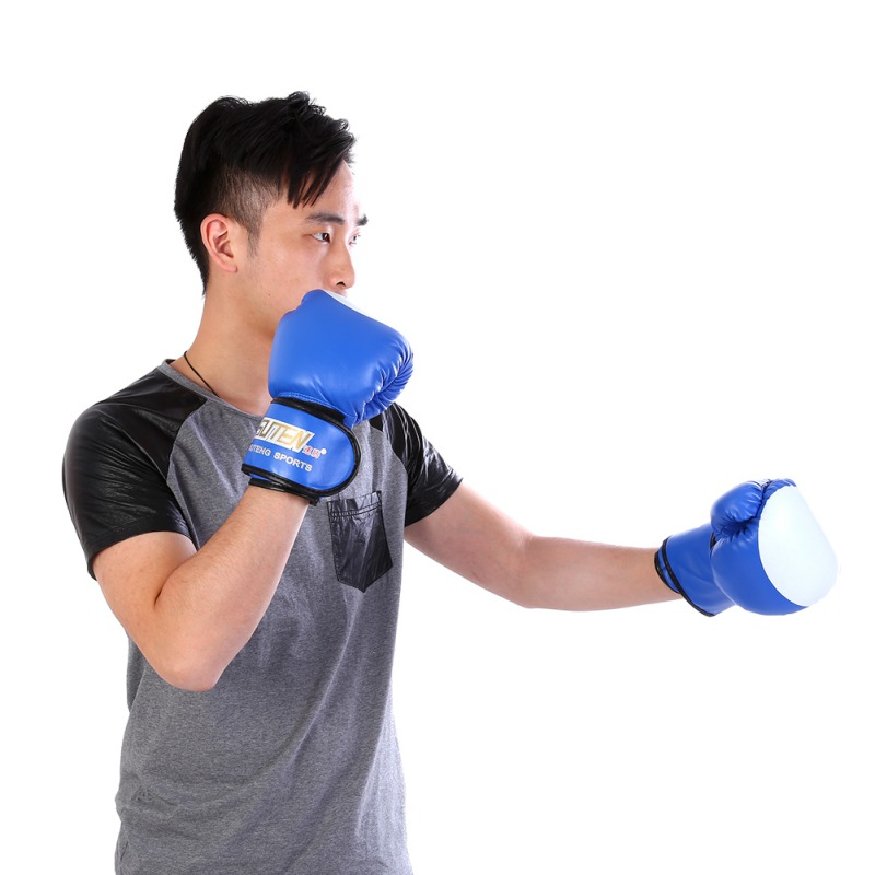 Adult Boxing PU Leather Gloves Punch Training Exercise MMA Grappling Gloves US