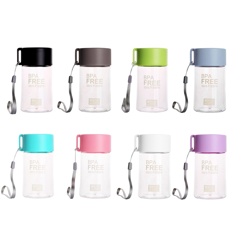 Outdoor Portable Transparent Letter Printing Cup Leakproof Small Water Bottle US